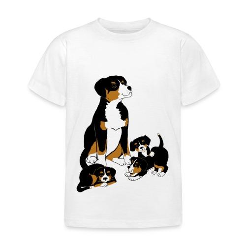 Entlebucher Dog and Puppies - T shirt - Kids' T-Shirt
