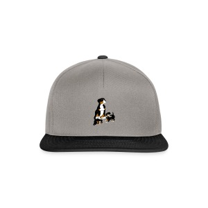 Entlebucher Dog and Puppies - Baseball Cap - Snapback Cap