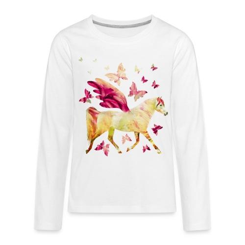 Pferd mit Flügel - Teenager Premium Langarmshirt