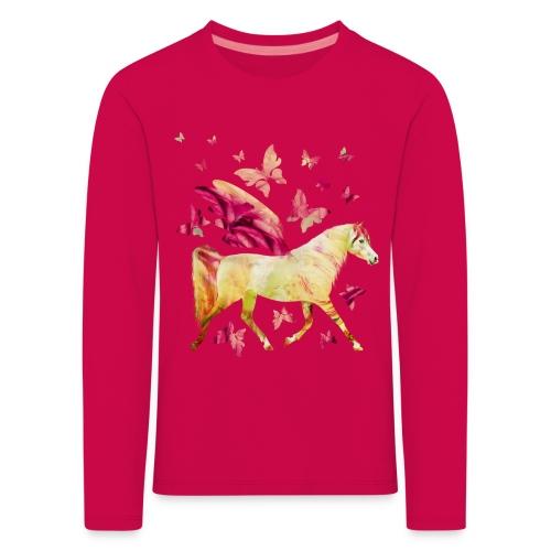 Pferd mit Flügel - Kinder Premium Langarmshirt
