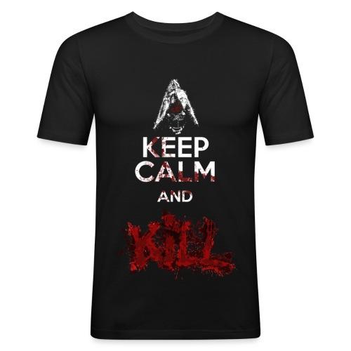 Keep calm and Kill - Nino Seiseisei - Maglietta aderente da uomo