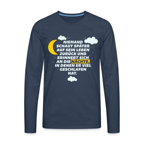 Schlaflose Partynächte - Männer Premium Langarmshirt