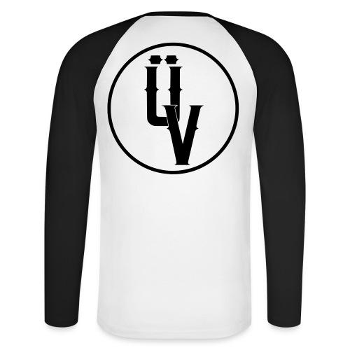 ÜV Baseball Long Schwarze Schrift - Männer Baseballshirt langarm