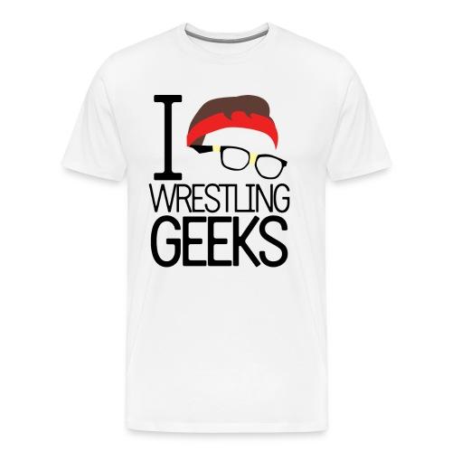 Men's JG Nash - I Love Wrestling Geeks - Men's Premium T-Shirt