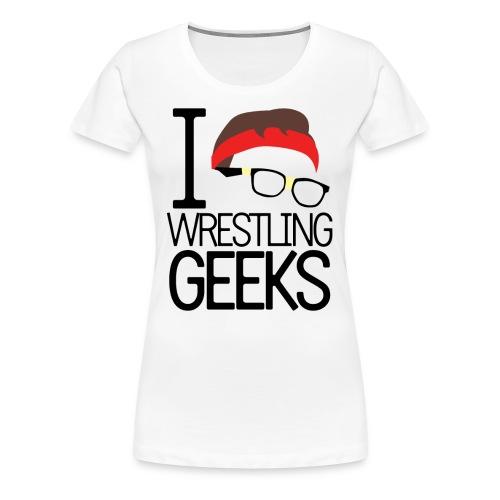 Women's JG Nash - I Love Wrestling Geeks - Women's Premium T-Shirt