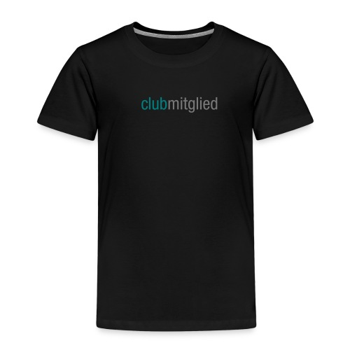 Kinder Premium T-Shirt - clubmitglied shirt, kids, black