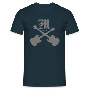 Mophead M with crossed Guitar & Bass - Männer T-Shirt