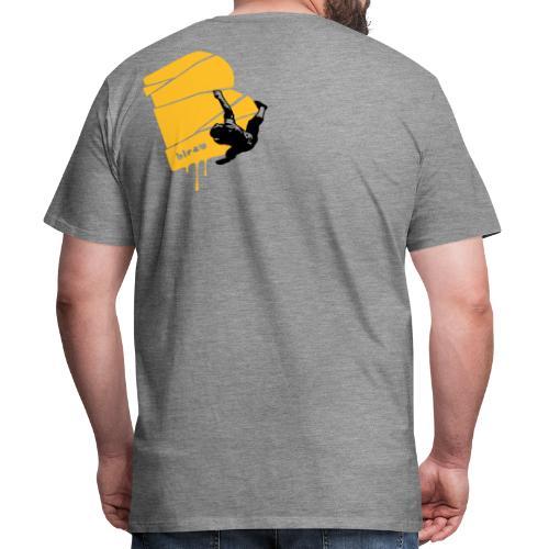 el poussah black-sunny yellow - Männer Premium T-Shirt