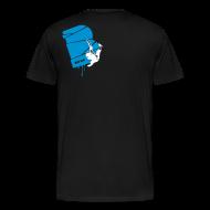 T-Shirts ~ Männer Premium T-Shirt ~ el poussah white-blue