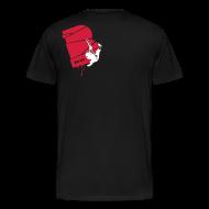 T-Shirts ~ Männer Premium T-Shirt ~ el poussah white-red