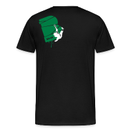 T-Shirts ~ Männer Premium T-Shirt ~ el poussah white-green