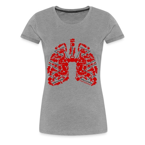 Kettlebell Lungs - Women's Premium T-Shirt