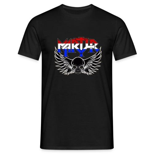 MARTYR red white blue logo T Shirt - Mannen T-shirt