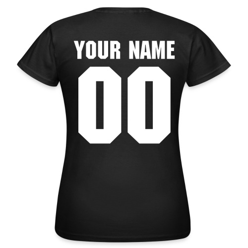 Name and Number T-Shirt - Vrouwen T-shirt