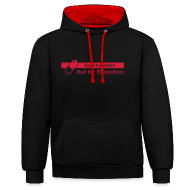 Hoodies & Sweatshirts ~ Contrast Colour Hoodie ~ Good for Health [M][HOODRED]