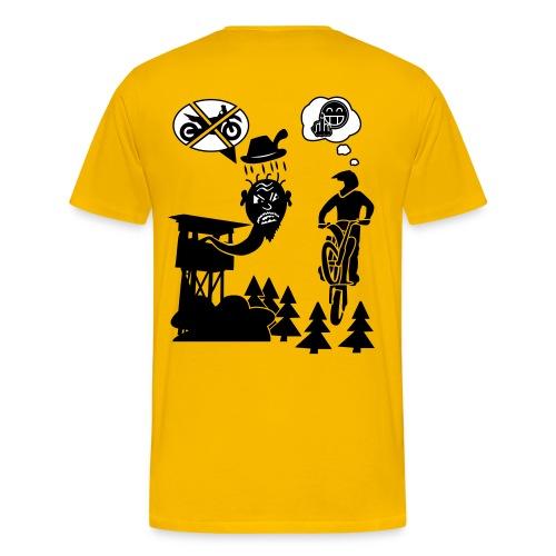 Biker vs. Hunter back HQ colour - Männer Premium T-Shirt