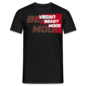 Vegan Beast Mode [red] [flockdruck] - Männer T-Shirt
