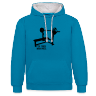 Hoodies & Sweatshirts ~ Contrast Colour Hoodie ~ F*ck Stress Bench Press | Unisex hoodie