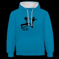 Hoodies & Sweatshirts ~ Contrast Colour Hoodie ~ F*ck Stress Bench Press | Unisex hoodie
