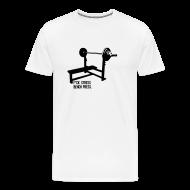 T-Shirts ~ Men's Premium T-Shirt ~ F*ck Stress Bench Press   Mens tee
