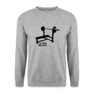Hoodies & Sweatshirts ~ Men's Sweatshirt ~ F*ck Stress Bench Press | jumper