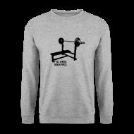 Hoodies & Sweatshirts ~ Men's Sweatshirt ~ F*ck Stress Bench Press | jumper