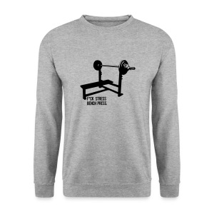 F*ck Stress Bench Press | jumper - Men's Sweatshirt