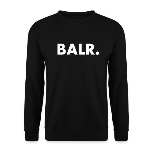 Brand Crew Neck Sweater Black - BALR. - Mannen sweater