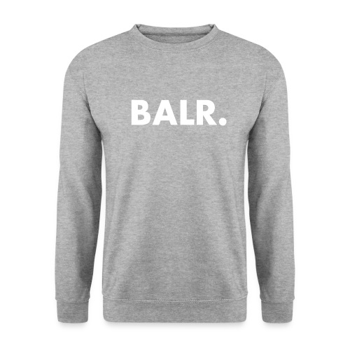 Brand Crew Neck Sweater Grey and White Text - BALR. - Mannen sweater