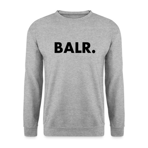 Brand Crew Neck Sweater Grey and Black Text - BALR. - Mannen sweater