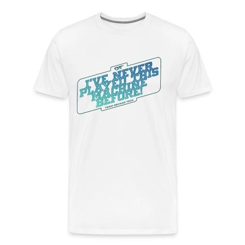 türkise schrift - transparenter hintergrund - Männer Premium T-Shirt