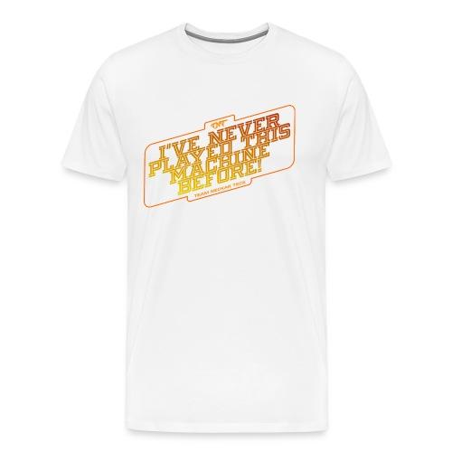 orange schrift - transparenter hintergrund - Männer Premium T-Shirt