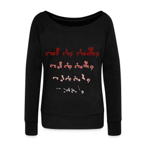 Voynich text version 1 - Women's Boat Neck Long Sleeve Top