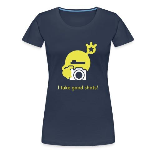 mySugr T-Shirt: Take a shot - Frauen Premium T-Shirt