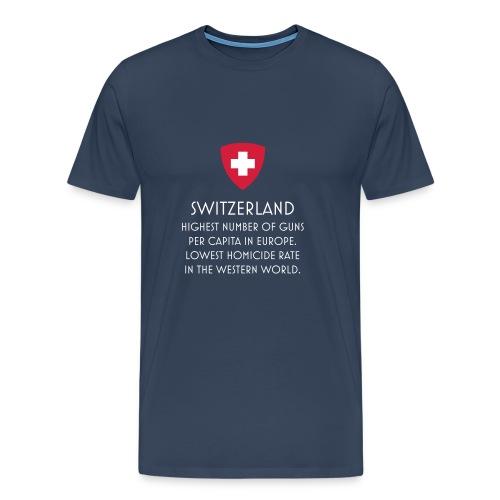 Svizzera e armi - Maglietta - Maglietta Premium da uomo