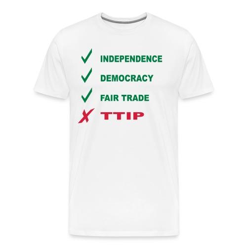 stop ttip - Maglietta Premium da uomo