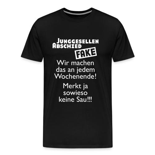 Junggesellenabschied Fake (md) - Männer Premium T-Shirt