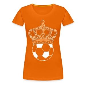 koning voetbal - Vrouwen Premium T-shirt
