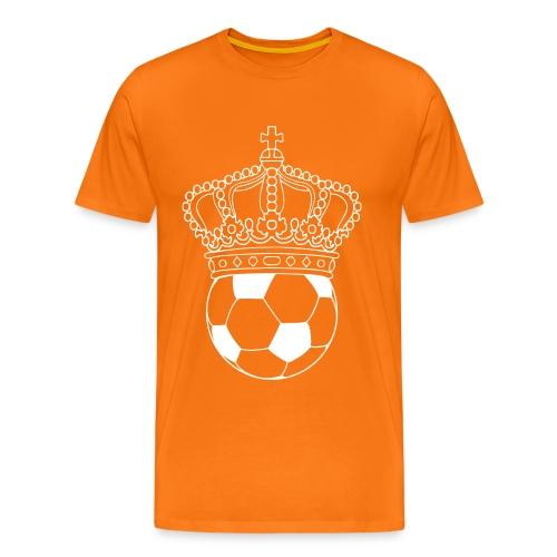 koning voetbal - Mannen Premium T-shirt