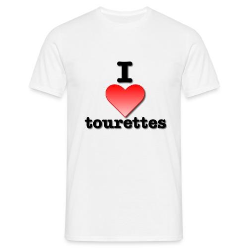 I Love Tourettes - Men's T-Shirt