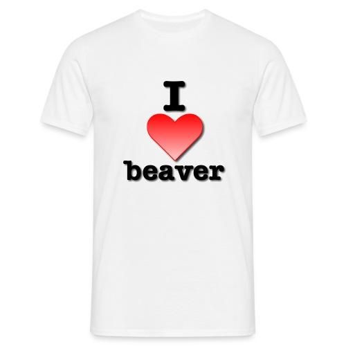 I Love Beaver - Men's T-Shirt