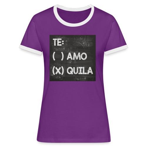 Teamo vs. Tequila - Frauen Kontrast-T-Shirt