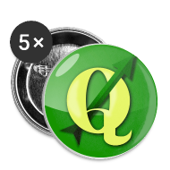 Buttons ~ Buttons small 25 mm ~ Buttons with QGIS logo