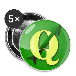 Buttons with QGIS logo - Buttons small 25 mm