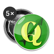 Buttons ~ Buttons large 56 mm ~ Buttons with QGIS logo