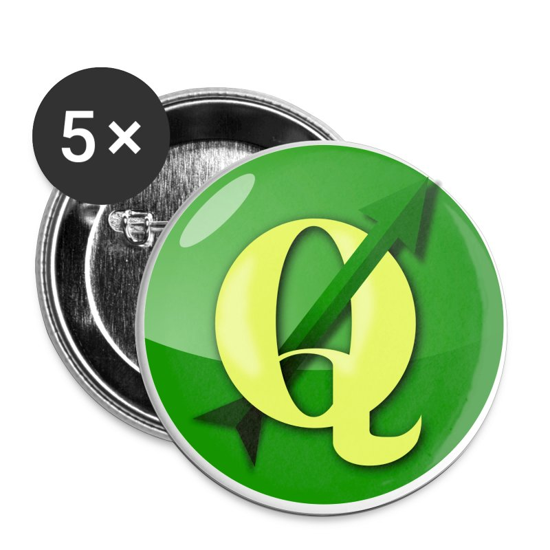 Buttons with QGIS logo - Buttons large 56 mm