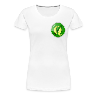 T-Shirts ~ Women's Premium T-Shirt ~ Women's t-shirt with QGIS logo on the front