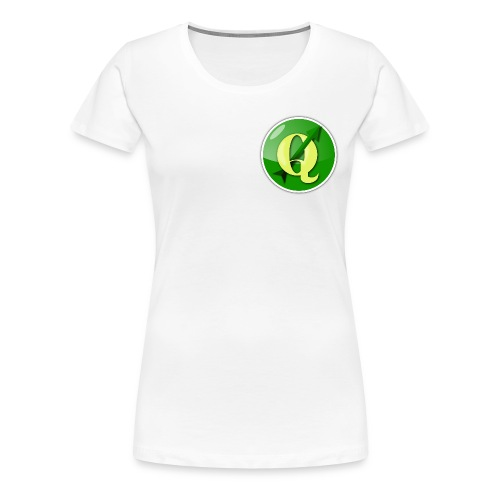 Women's t-shirt with QGIS logo on the front - Women's Premium T-Shirt