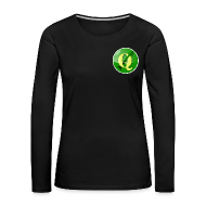 Long Sleeve Shirts ~ Women's Premium Longsleeve Shirt ~ Women's longsleeve with QGIS logo on the front