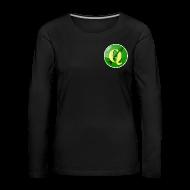 Long Sleeve Shirts ~ Women's Premium Longsleeve Shirt ~ Women's longsleeve with QGIS logo on the front